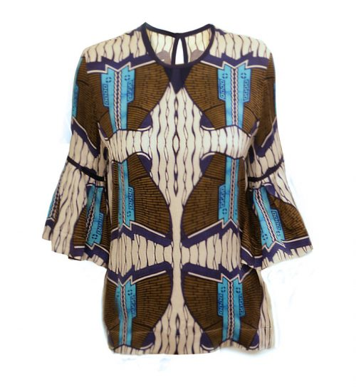 African Print Blouse (Front)