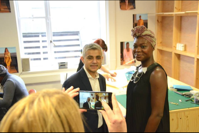 Meeting the Mayor London, Sadiq Khan, bringing awareness to sustainable and ethical fashion