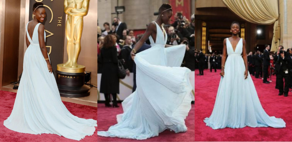 Making her Star Turn looking like Cinderella at the Oscars 2014